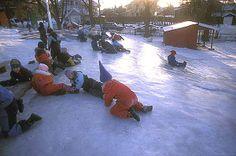 In the schoolyard - Kjelsås primary school - Oslo.