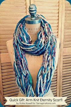 Cool arm knitted scarf