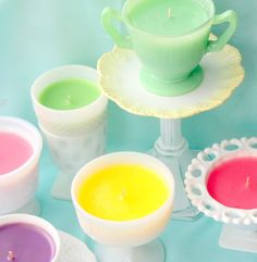 Candle Making with Vintage Glass Containers