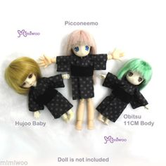 Hujoo-Baby-Obitsu-11cm-Doll-Azone-Picconeemo-Outfit-Japan-Flower-Yukata-Purple