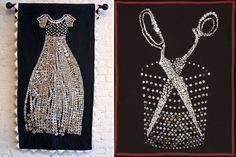 #button #art #austin #texas #dress #scissors