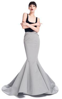 Mermaid Evening Skirt by Zac Posen for Preorder on Moda Operandi Evening Skirts, Formal Evening Dresses, Mermaid Skirt Pattern, Pattern Dress, Dress Skirt, Dress Up, Do It Yourself Fashion, Mermaid Dresses, Zac Posen