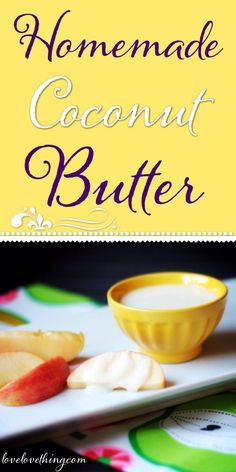You can't believe how easy it is to make your own coconut butter! And it saves… Coconut Recipes, Paleo Recipes, Whole Food Recipes, Cooking Recipes, Paleo Sauces, Buttermilk Recipes, Banting Recipes, Flour Recipes, Copycat Recipes