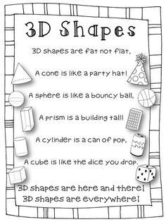 Cute shape rhyme for kindergarteners.