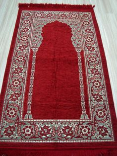 RED - Foam Padded SOFT Islamic Prayer Rugs Mats Namaz Salat Musallah Janamaz
