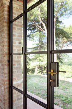 infissi-minimal-in-acciaio (3) Gazebo, Pergola, Kitchen And Bath, Sweet Home, Villa, Exterior, Windows, Doors, Contemporary Houses