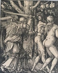 Albrecht Dürer (1471-1528) - Expulsion from the Paradise - 1510 - Print from the 16th or 17th c. - Catawiki