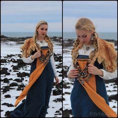 Hand sewn viking garb by Sól Geirsdóttir Photos taken at Vulcanic landscapes, Iceland. @thevikingqueen at IG