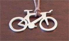 Pingente de prata bicicleta