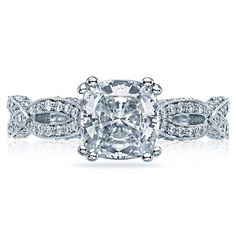Shop online TACORI HT2528CU7 Vintage 18K - White Gold Diamond Engagement Ring at Arthur's Jewelers. Free Shipping