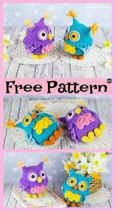 Cute Crochet Owl Amigurumi – Free Pattern  freecrochetpatterns  amigurumi   toys  owl Gullig 01a0ad3a0a609