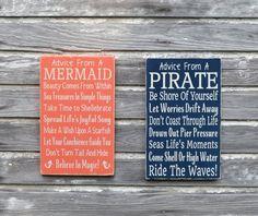 Nautical Nursery Sign Kids Room Wall Art Advice From A Pirate Custom Beach Plaque Decor Coastal Theme Bedroom Gift Bathroom Ocean Childrens - The Sign Shoppe - 3