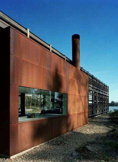 44 ideas exterior cladding facades corten steel for 2019 Steel Cladding, House Cladding, Exterior Cladding, House Siding, Roof Cladding, Facade Design, Exterior Design, House Design, Residential Architecture