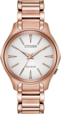 Looking for Citizen Women's Modena Rose Goldtone Watch ? Check out our picks for the Citizen Women's Modena Rose Goldtone Watch from the popular stores - all in one. Stainless Steel Watch, Stainless Steel Bracelet, Citizen Eco Drive Ladies, Woman Silhouette, Stylish Watches, Lady, Pink And Gold, Rose Gold, Jewelry Watches