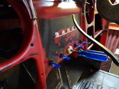Screwdriver ignition key.
