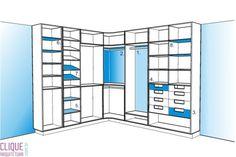 Clique Arquitetura - Seu portal de Ideias e Soluções - Closet: Escolhendo o Mobiliário