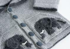 Hand-knit baby elephant hoodie, 100% alpaca | tausigma