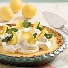 A favorite... Lemon pie made with sweetened condensed milk!!