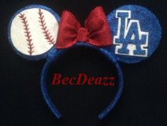 Los Angeles Dodgers Minnie Mouse Headband. Would be so much cuter as TB Rays of course ;)