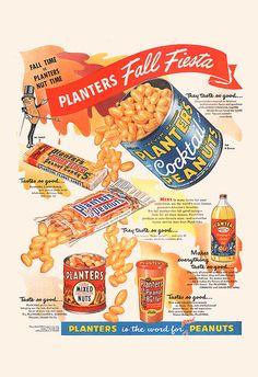 PLANTERS PEANUTS AD Vintage Planters Ad by EncorePrintSociety