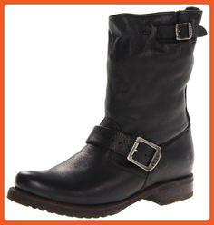 FRYE Women's Veronica Short Boot, Black Soft Vintage Leather, 7 M US - Boots for women (*Amazon Partner-Link)