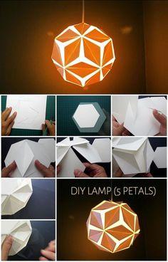 Diy Origami, Paper Crafts Origami, Paper Crafting, Paper Lantern Lights, Paper Lanterns, Diwali Lantern, Origami Lights, Diy Pendant Light, Pendant Lighting
