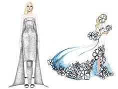 Croquis do Vestido de Noiva Lady Gaga