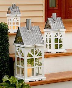 Wooden House Lanterns