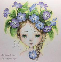 いいね!980件、コメント101件 ― @morena_vajakのInstagramアカウント: 「Little Andrea is finished Für meine liebe Freundin @andreas_colouring, die mir das Buch so…」
