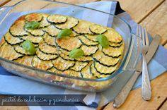 Gastro Andalusi ♥ Recetas paso a paso: Pastel de calabacín con queso fresco batido 0%
