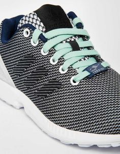 online retailer 4c6de 3c11f Imagen 4 de Zapatillas de deporte con ondas azul y gris ZX Flux de adidas  Originals