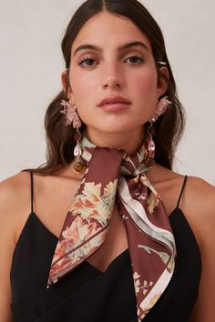 Keepsake Unravel Scarf In Chocolate Lily Silk Neck Scarf, Ways To Wear A Scarf, Keepsake The Label, Timeless Elegance, Neck Scarves, Hair Ties, World Of Fashion, Going Out, Cute Outfits
