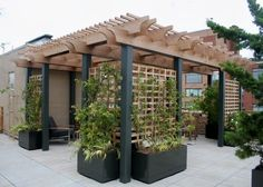Image result for simple upper deck pergola