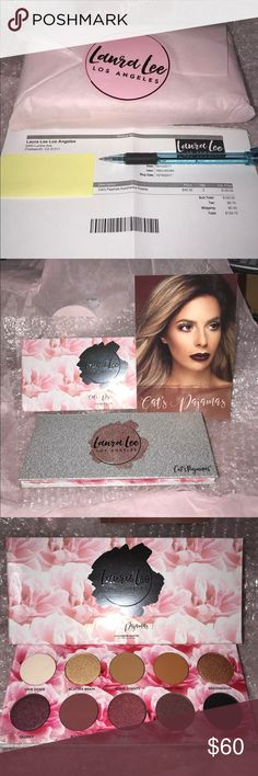 Laura Lee Cats Pajamas Palette NEW Laura Lee Cats Pajamas Palette NEW IN PACKAGE   Yours will come wrapped in original Laura Lee packaging as shown in picture number four. It will NOT come with the receipt of with the Laura Lee card. The pictures of the actual palette in 1-3 are of mine that I am keeping, like I said the one you are purchasing and will be receiving is BRAND NEW, UNOPENED, SEALED, IN ORIGINAL LAURA LEE LOS ANGELES PACKAGING.   Feel free to ask questions. Makeup Eyeshadow