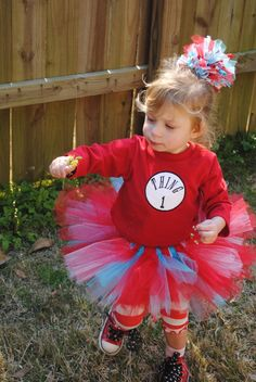 thing 1 tutu and bow