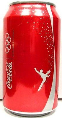 FULL Can Coke Coca-Cola 2010 Vancouver Canada Winter Olympics Figure Skating USA