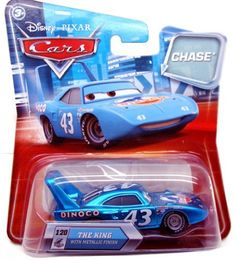 Disney Pixar Cars The King with Metallic Finish 1:55 CHASE Die-cast Vehicle by Mattel.