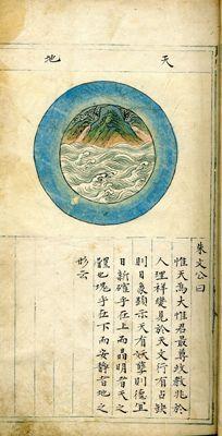御製天元玉曆祥異賦 Yu zhi tian yuan yu li xiang yi fu. Manuscript between 1628-1644, Ming Dynasty