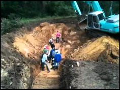 Small Dam/Pond Installation by Geoff Lawton on October 2011 Earthworks Course - YouTube