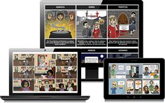 """""""StoryboardThat"""" is a creative way that educators can ask their students to describe an event from the past of convey an idea. In social studies particularly it can be used to allow students a nontraditional way (essays, multiple choice, etc.) to answer questions or look at the past. The website allows individuals to create story boards using customizable characters, settings, and text bubbles.  Storyboard That - World's Best Storyboard Creator"""