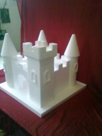 Διακοσμητικό λευκό κάστρο από φελιζόλ | 4umarket.gr