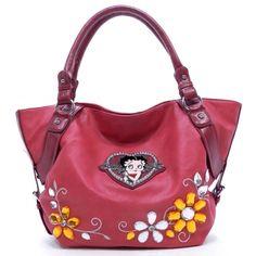 fdb36f8b0735 Betty Boop® Boopsie Gemstone Tote for Sale - fashlets.com Studded Bag
