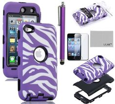 Pandamimi ULAK(TM) Zebra Design Combo Black Hard PC and Purple Soft Silicon Case Cover for Apple iPod Touch 4 4th Gen + Purple Stylus ULAK http://www.amazon.com/dp/B00BUIKXKS/ref=cm_sw_r_pi_dp_aE6yub06RPQQM
