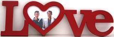 """Portaretratos de madera """"love"""""""