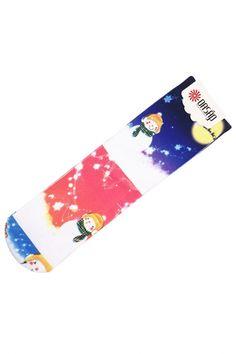 Lovely Snowmen White Ankle Socks