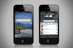 Back Pack Network | App Design by Hamutzim Studio , via Behance