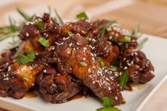 Game Day Food – Balsamic Chicken Wings Sweet balsamic, rosemary and garlic flavor these sticky chicken wings. It's impossible to have just one. A great game day munchie to have on hand.