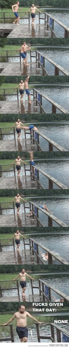 It took me a second to figure out what was so funny until I realized the friend of the guy falling never moved! LOL