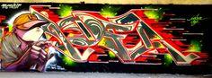 Grim + Idea #idea #saf #graffiti #art #arte #Street #Cagliari #sardegna #Sardinia #artist #colours #walls #cus #università #writing #hiphop #spraycan #colorful #powerful #cap #ingegneria #Nuoro #paint