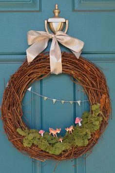 Cute woodland wreath